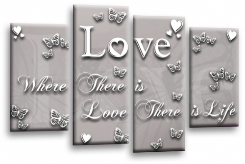 Love Quote Wall Art Print Powder Grey Family Picture
